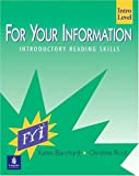 For Your Information Intro: Introductory Reading Skills