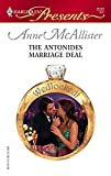 The Antonides Marriage Deal (Harlequin Presents)