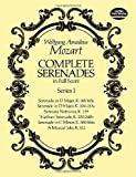 Mozart: Complete Serenades in Full Score, Series 1