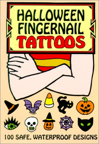 Halloween Fingernail Tattoos
