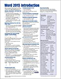 「Microsoft Word 2013 Introduction Quick Reference Guide (Cheat Sheet of Instructions, Tips & Shortcut...」のサムネイル画像