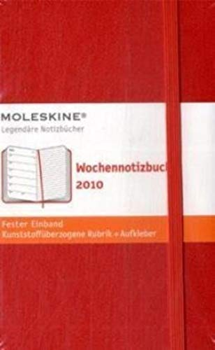 Moelskine Weekly Notebook - 2010 12 Month - Pocket, Hard Red