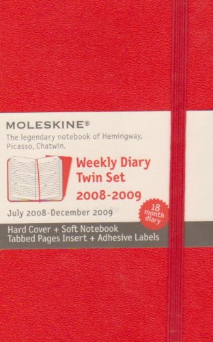 Moleskine Weekly Planner 18 Month Red Twin Set 2009 (Hard Cover + Soft Notebook) (Moleskine 18 Month Diaries)