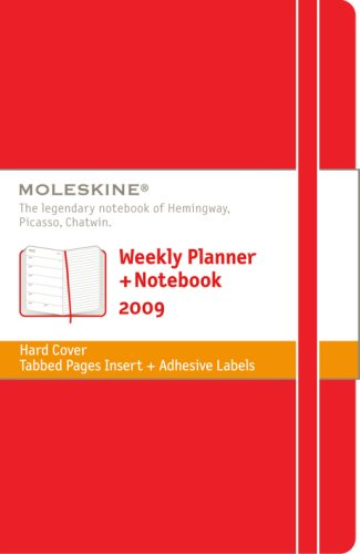 Moleskine Weekly Notebook 12 Months Red 2009 (Hard Cover)
