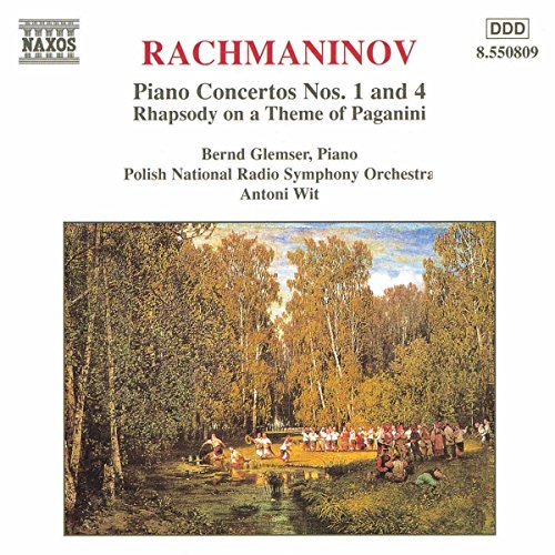 Piano Ctos 1 & 4: Rhapsody on a Theme of Paganini