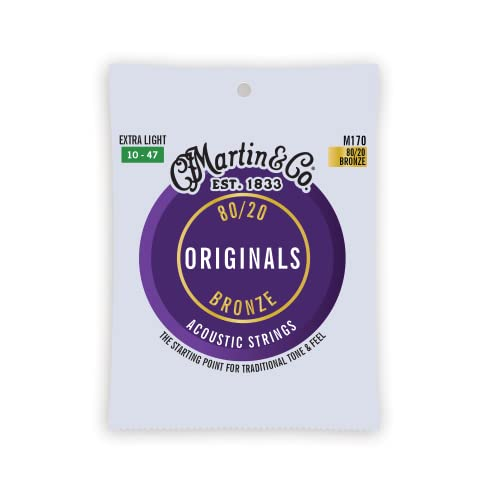 Martin アコースティックギター弦 ACOUSTIC (80/20 Bronze) M-170 Extra Light .010-.047