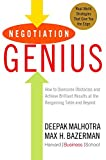 「Negotiation Genius: How to Overcome Obstacles and Achieve Brilliant Results at the Bargaining Table ...」のサムネイル画像