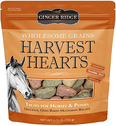 Ginger Ridge Harvest Hearts Horse Treats, Wholesome Grain, 1.75 lb by Ginger Ridge