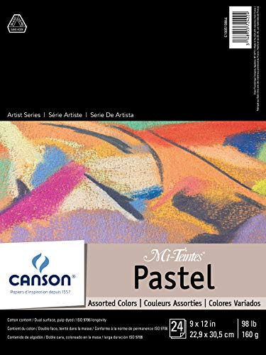 Mi-Teintes Pastel Pad, Assorted Colors 9X12 Fold Over by Canson