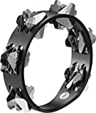 MEINL Percussion マイネル タンバリン Compact Wood Tambourine Hand-Hammered Stainless Steel Jingles 2rows CSTA2S-BK 【国内正規品】