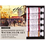 「M. Graham 1/2-Ounce Tube Watercolor Paint Set, Quinacridone Quintet 5 by M. Graham & Co.」のサムネイル画像