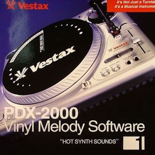 Vestax シングルノート収録レコード Vinyl Melody Software Hot Synth Sounds 1