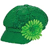 「Amscan St. Patrick's Day Sequin Fabric Costume Party Head Wear (1 Piece), Green, 34cm x 30cm」のサムネイル画像