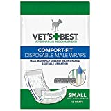 「Vet's Best Comfort-Fit Washable Dog Male Wrap Wetness Indicator Small 12Pack」のサムネイル画像