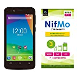 NIFTY FREETEL priori2 LTE ブラック 【NIFTY NifMo 音声通信専用SIMカード】セット PRIO2L(1410PP156)