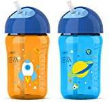 「Philips Avent My Twist N Sip Straw Cup Blue/Orange, 12 Ounce , Stage 3 by Philips AVENT」のサムネイル画像
