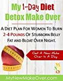 1 Day Detox Diet: MY 1-DAY DIET DETOX MAKE OVER: DISCOVER HOW YOU CAN BURN 2-4 POUNDS OF STUBBORN BELLY FAT AND BLOAT OVER NIGHT. WITHOUT STARVATION DIET ... POWDERS, AND SUPPLEMENTS. (English Edition)